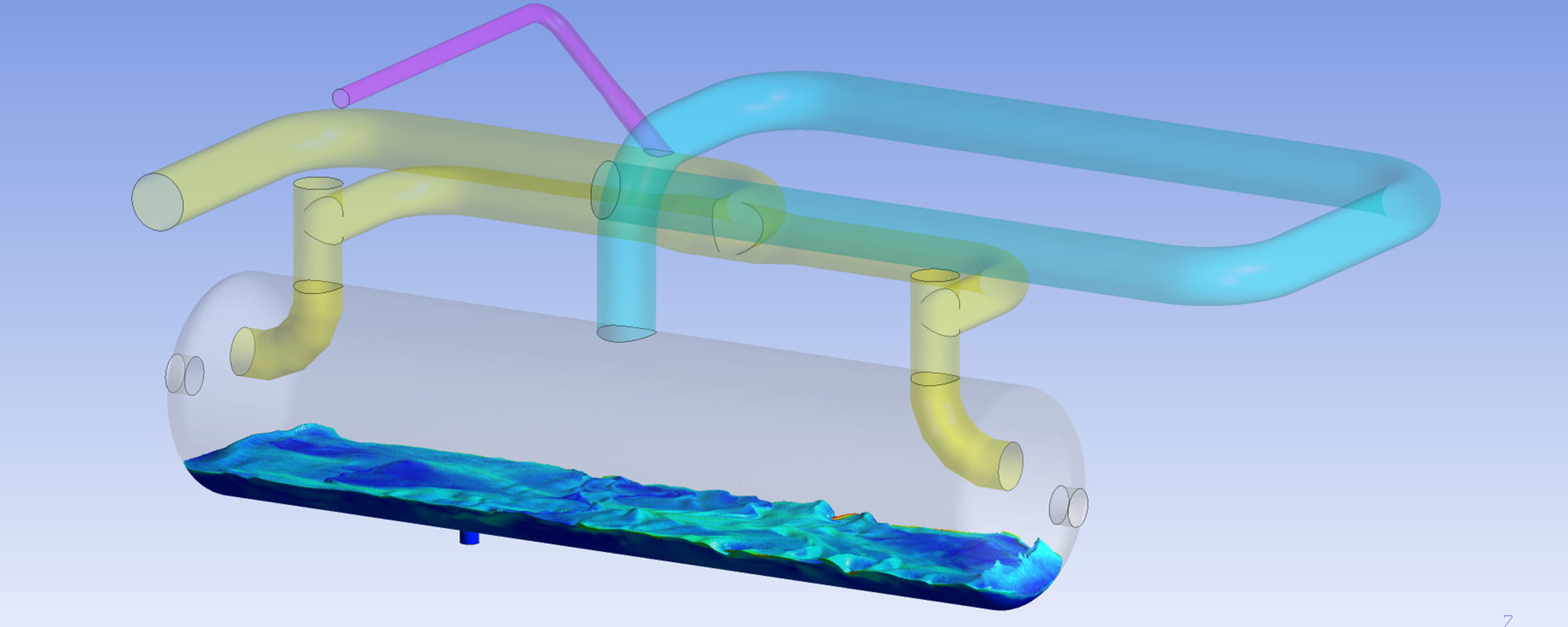 Computation fluid dynamic model of knock-out drum