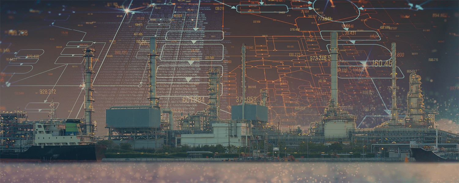Data visualization of an oil refinery