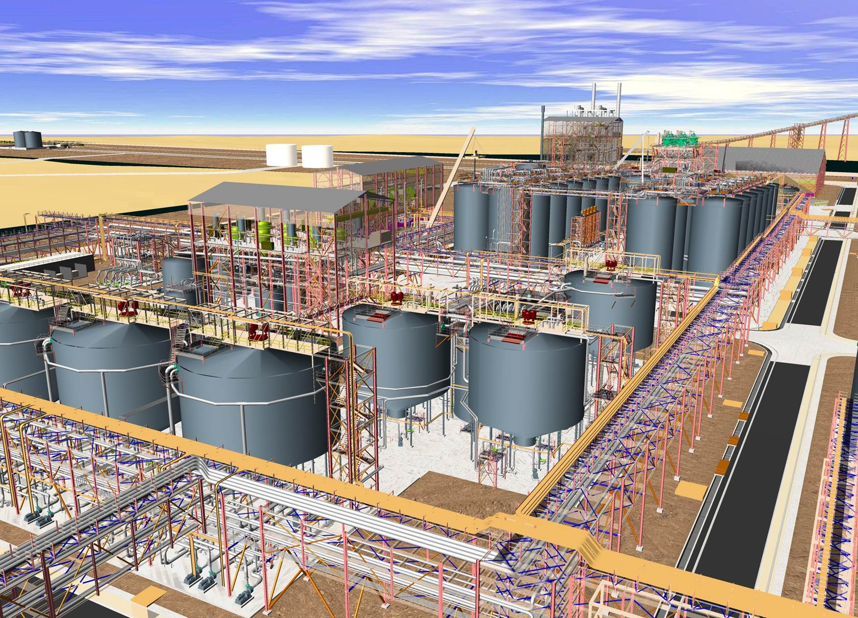 3D model of refinery design