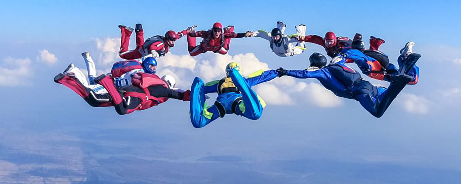 skydiving team