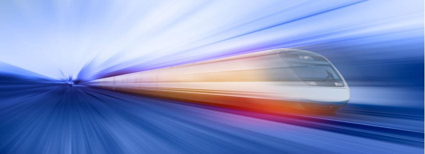 blurred railway