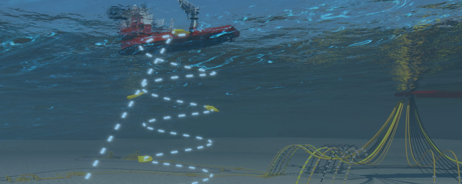 Illustration of subsea dropped objects