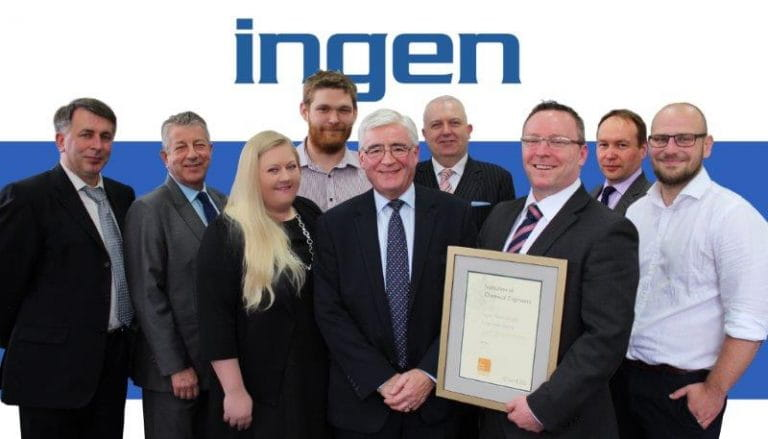 Ingen Ideas - First small company in the world to become ICHEME Gold corporate partner