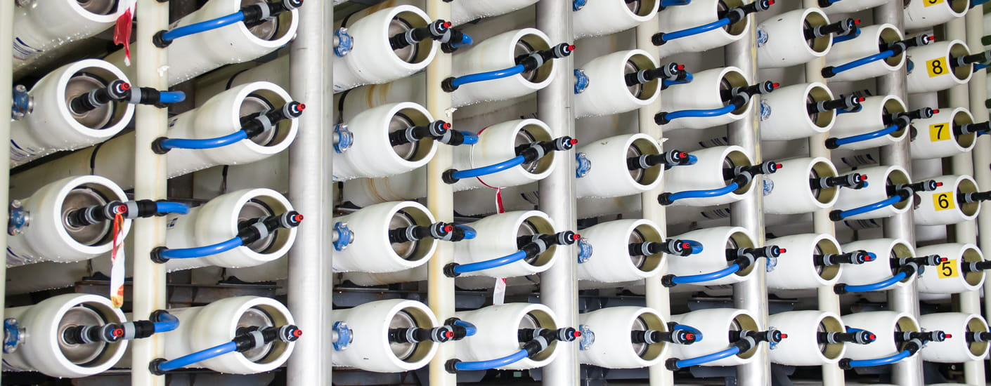 inside desalination plant