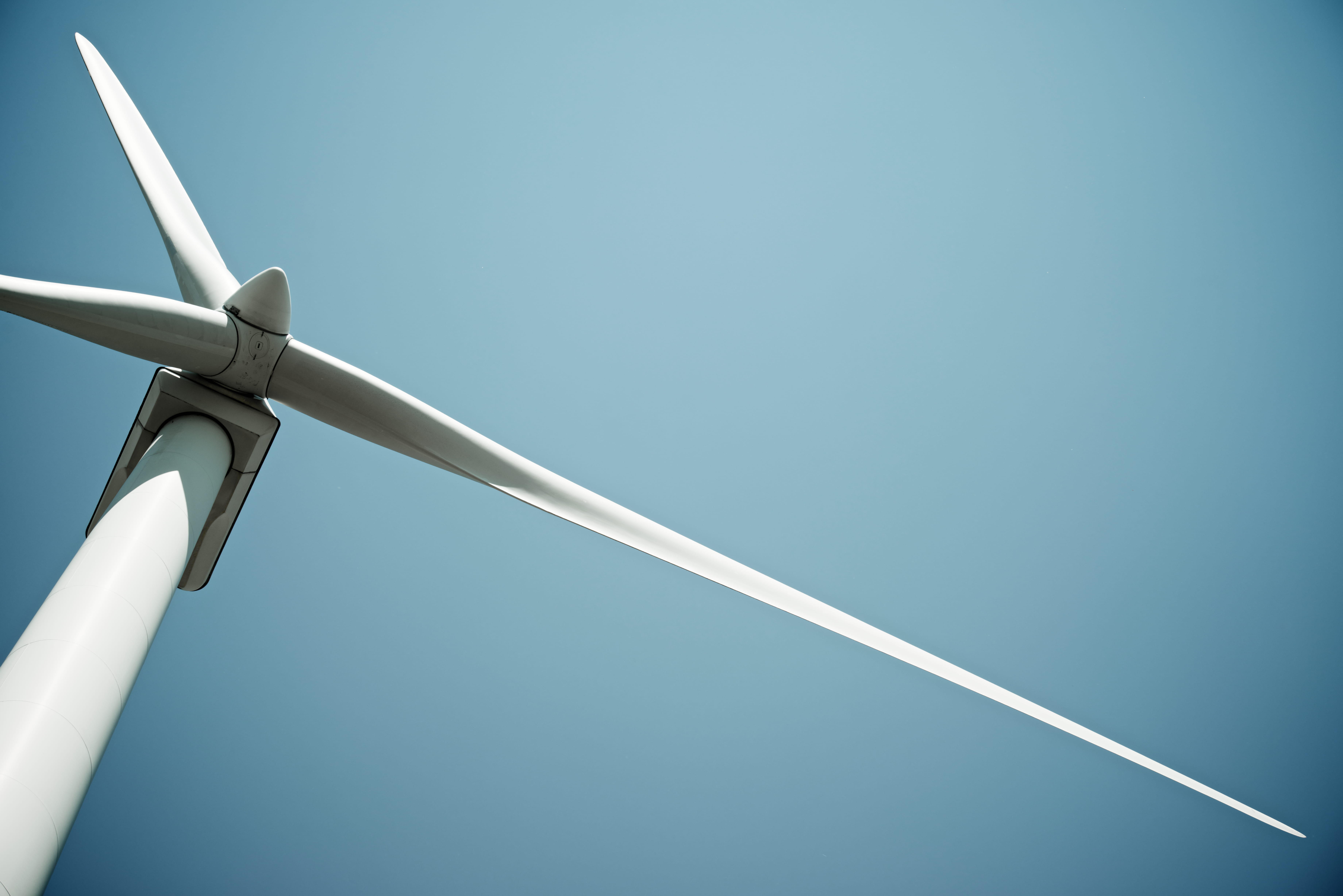 Close up of wind turbine blade