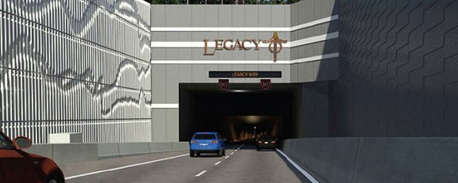 Model of Legacy Way tunnel
