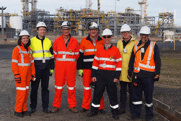 Advisian consultants at Longford gas plant